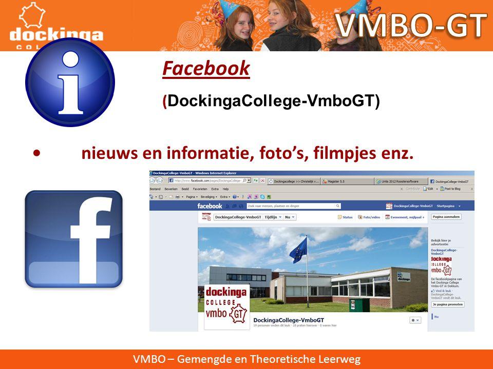 VMBO-GT Facebook • nieuws en informatie, foto's, filmpjes enz.