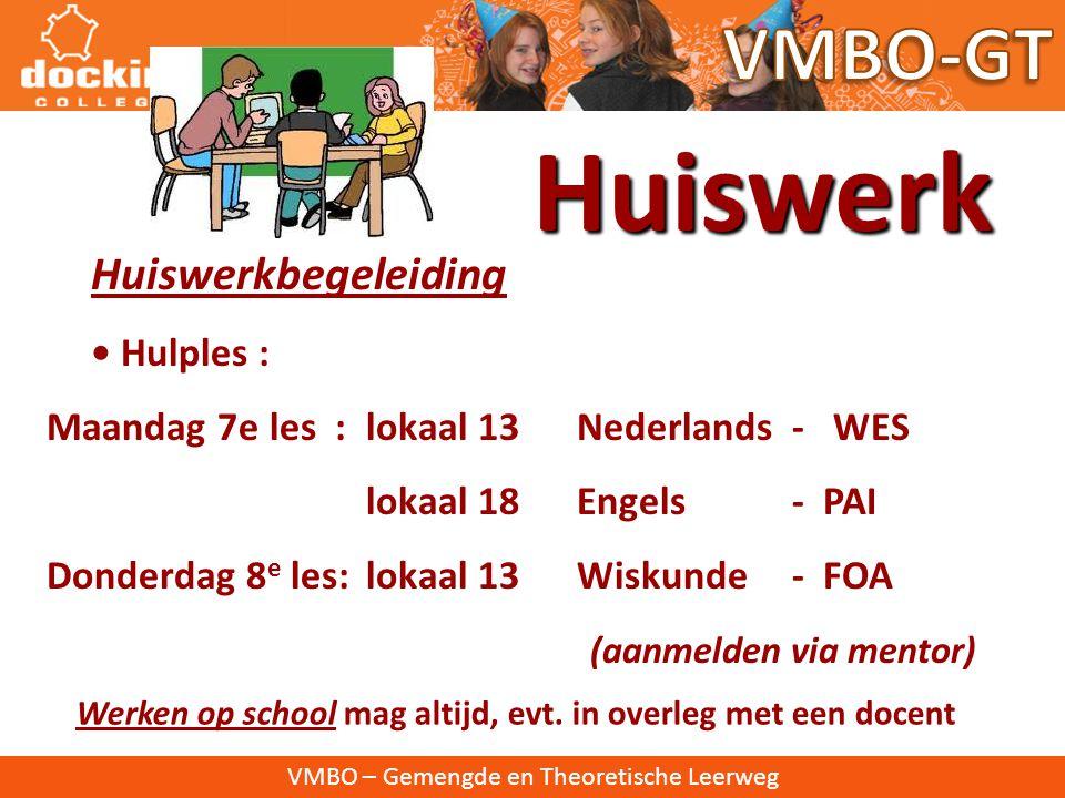 Huiswerk VMBO-GT Huiswerkbegeleiding • Hulples :