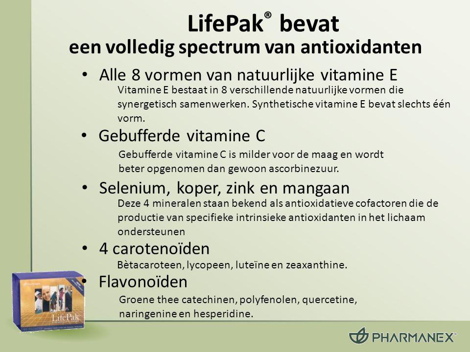 LifePak® bevat een volledig spectrum van antioxidanten