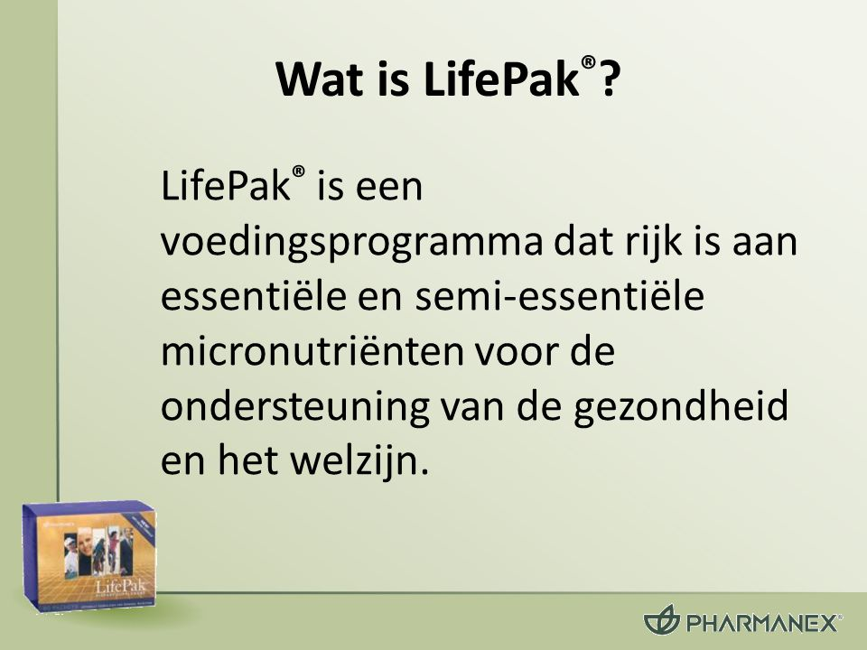 Wat is LifePak®