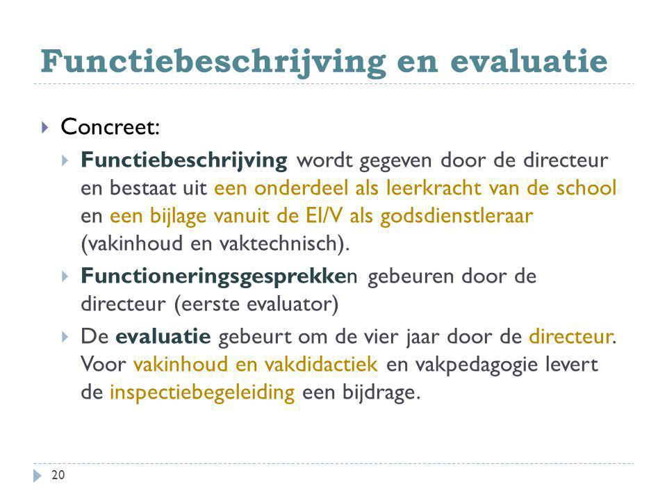 Functiebeschrijving en evaluatie