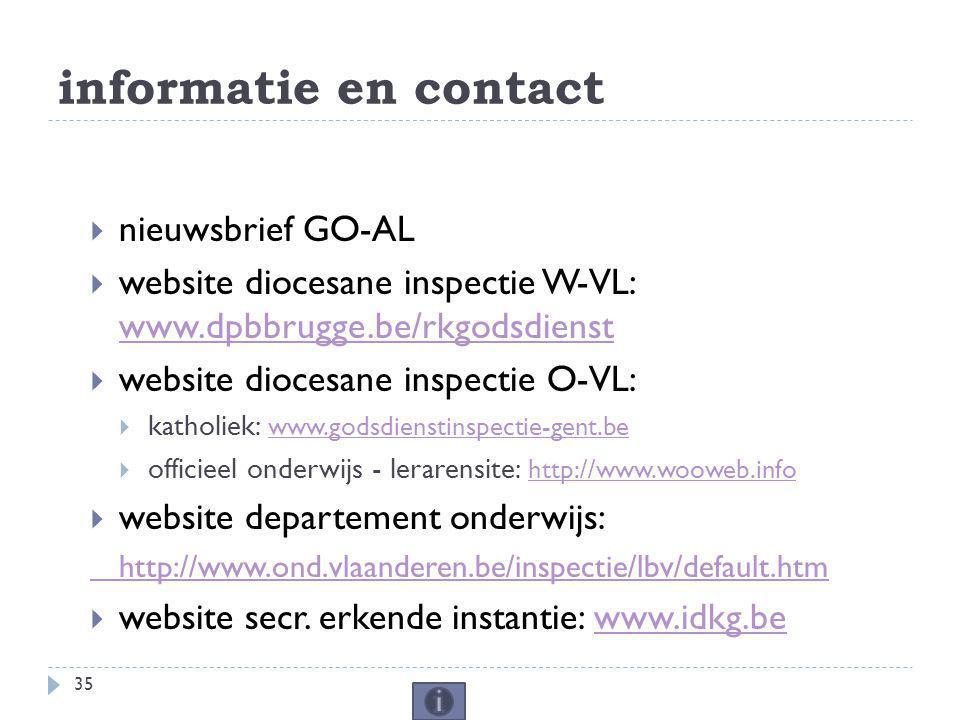 informatie en contact nieuwsbrief GO-AL
