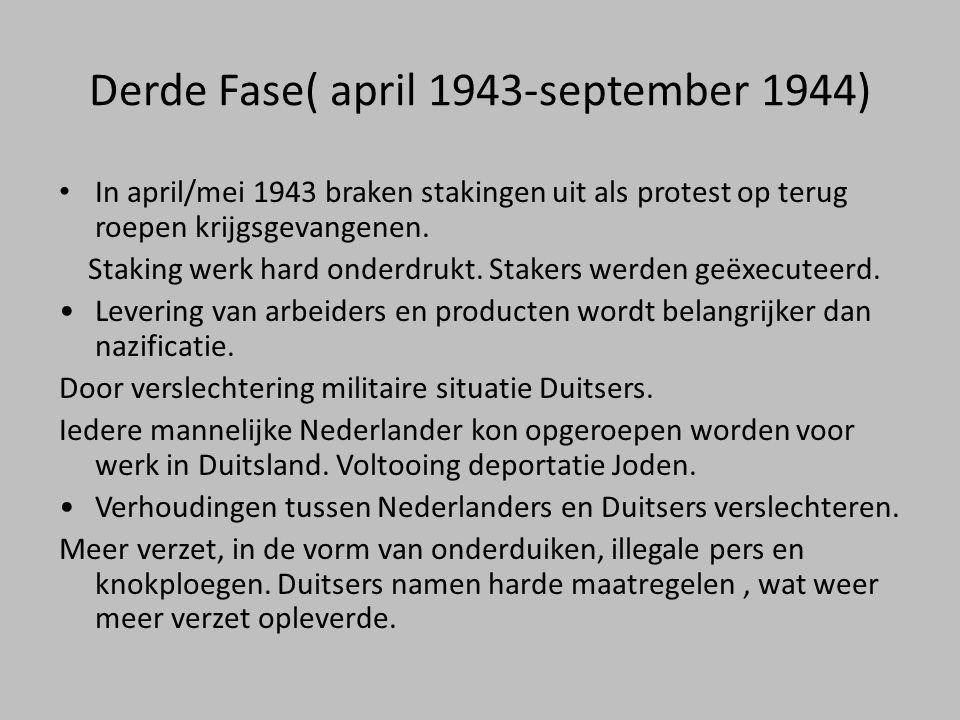 Derde Fase( april 1943-september 1944)