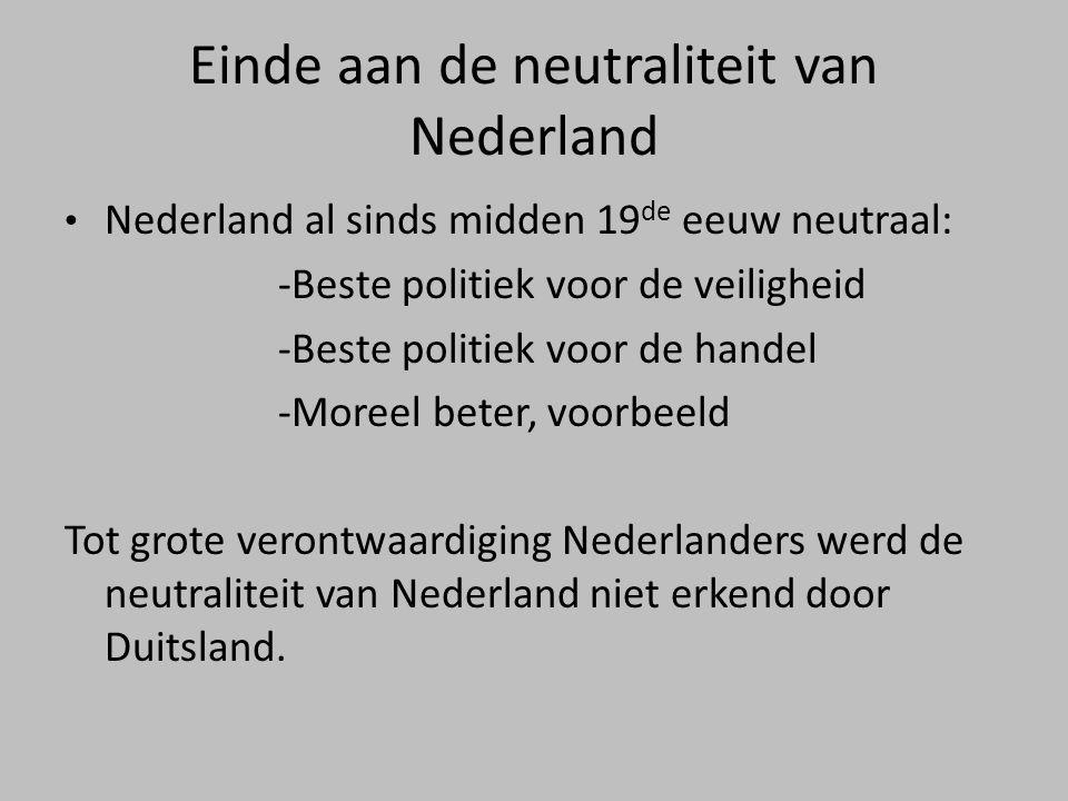 Einde aan de neutraliteit van Nederland
