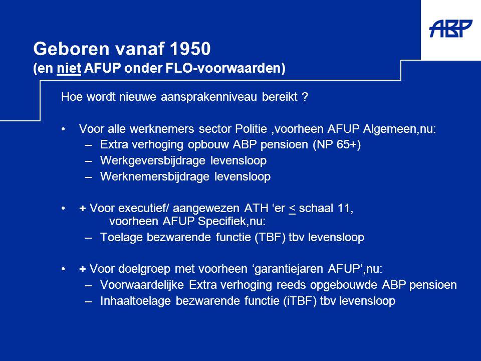 Geboren vanaf 1950 (en niet AFUP onder FLO-voorwaarden)