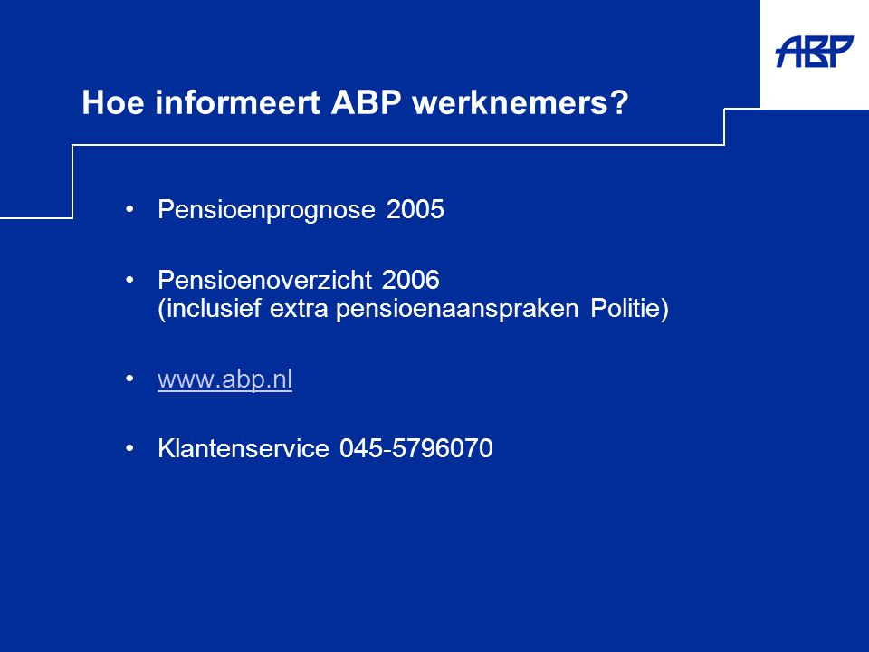 Hoe informeert ABP werknemers
