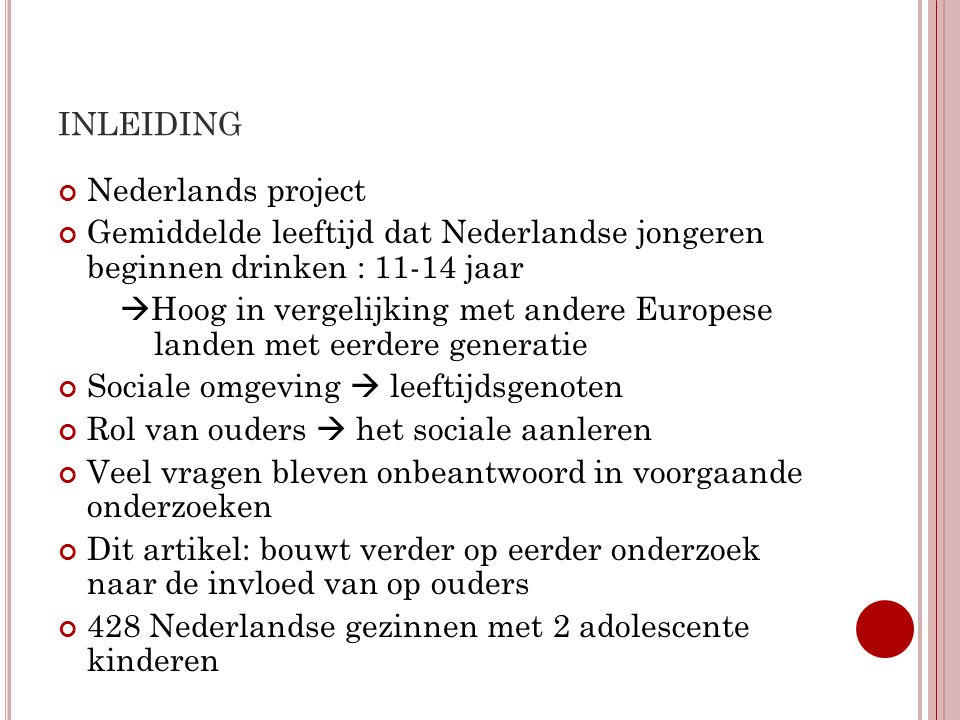 inleiding Nederlands project