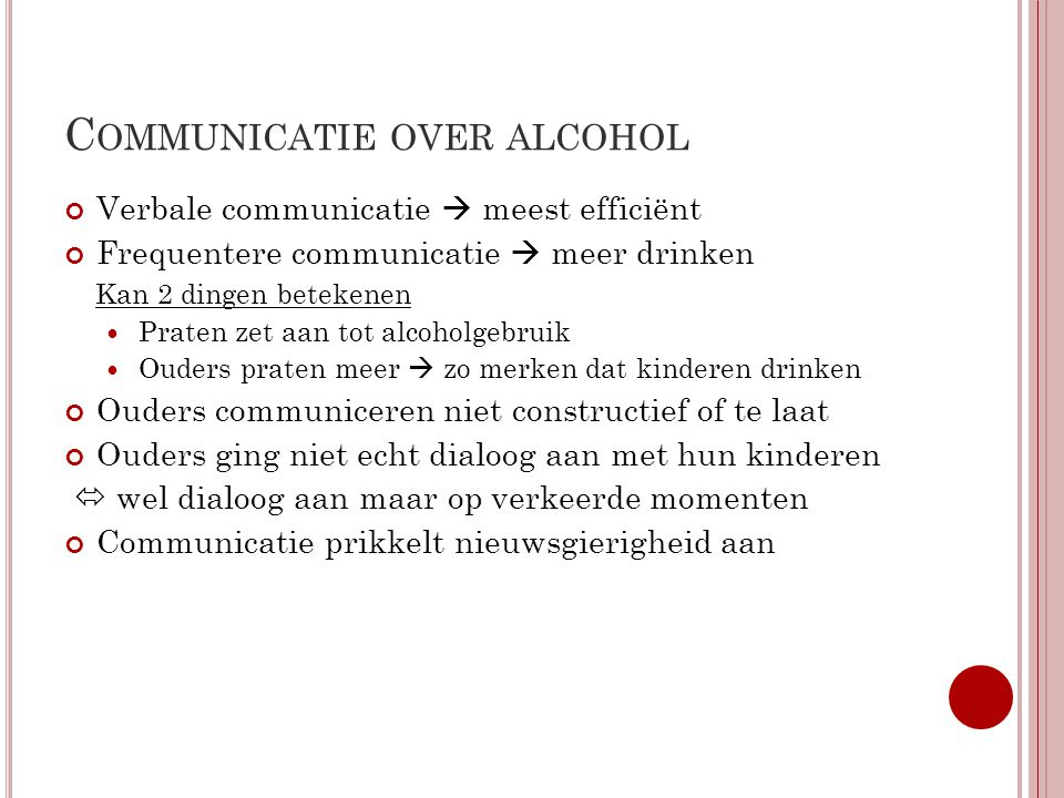 Communicatie over alcohol