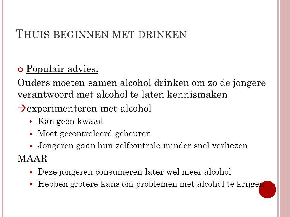 Thuis beginnen met drinken