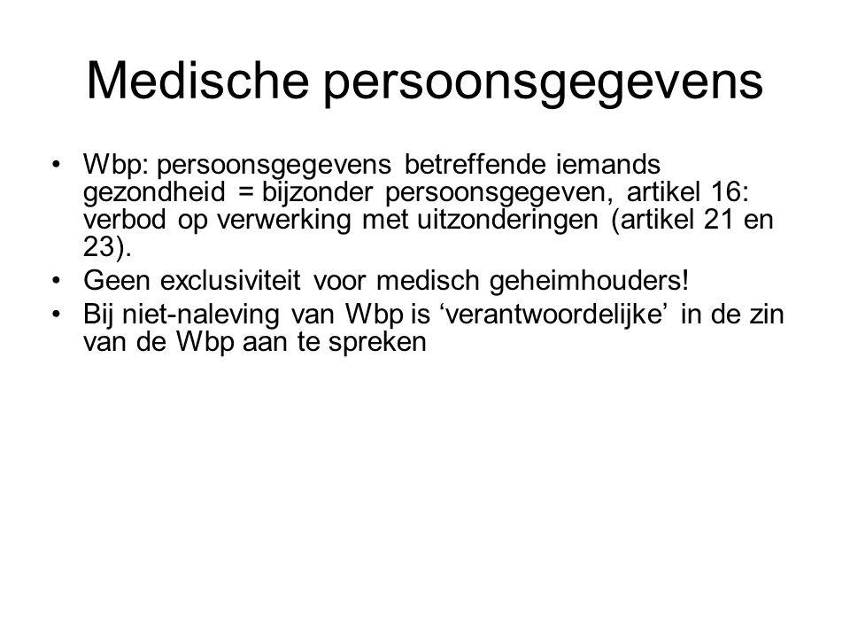 Medische persoonsgegevens