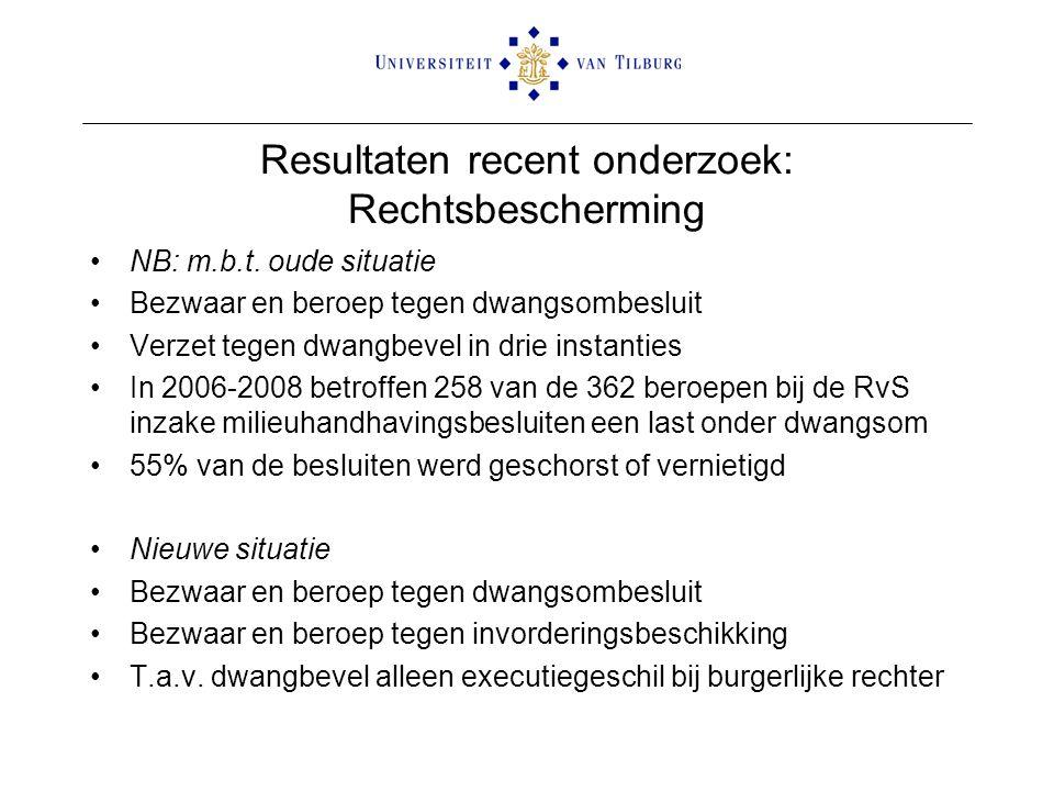 Resultaten recent onderzoek: Rechtsbescherming