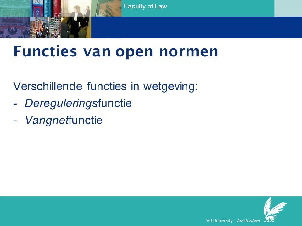 Functies van open normen