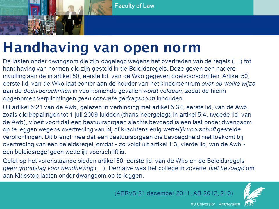 Handhaving van open norm