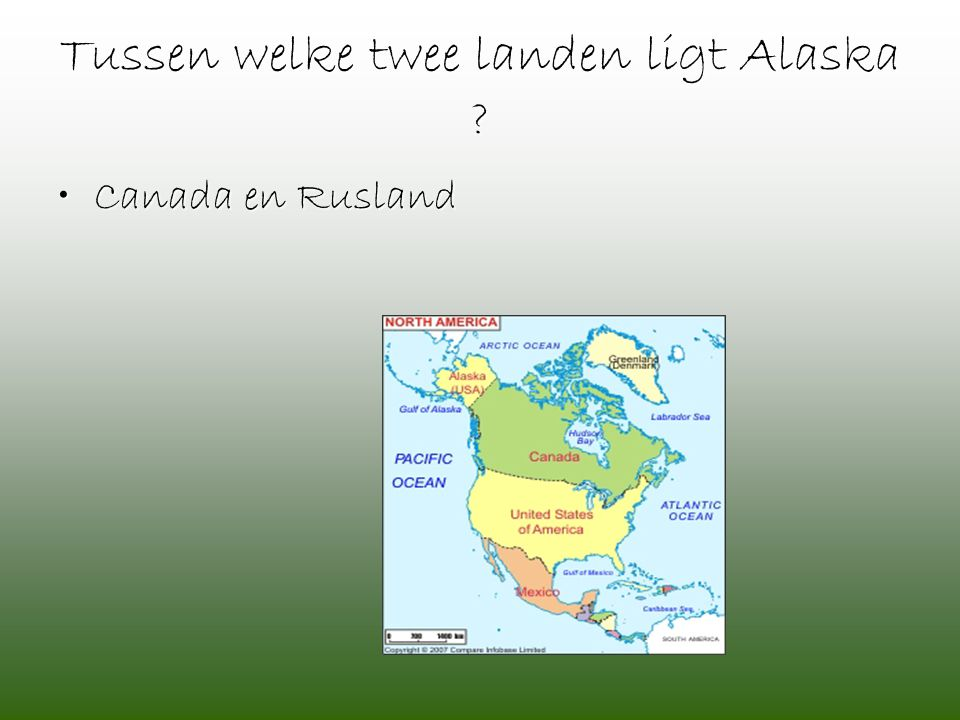 Tussen welke twee landen ligt Alaska