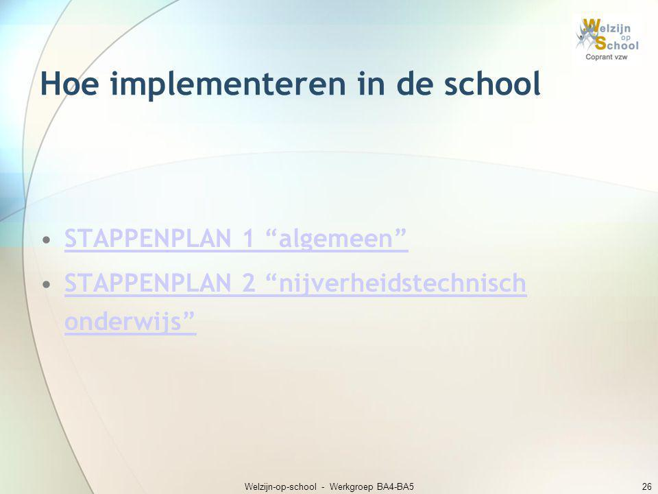Hoe implementeren in de school