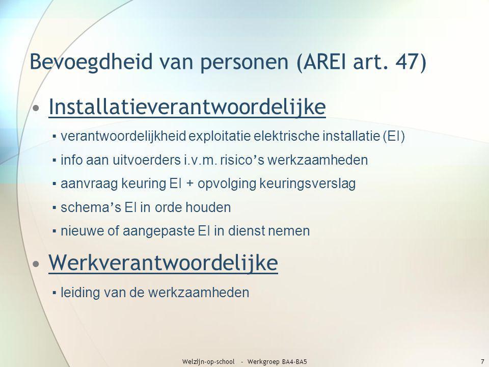 Bevoegdheid van personen (AREI art. 47)