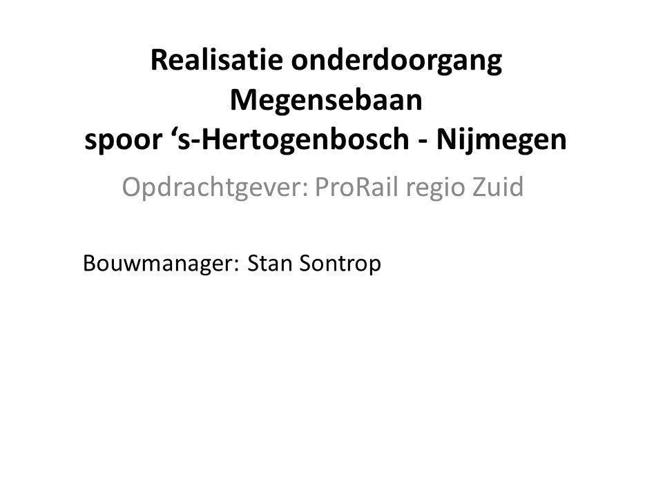 Realisatie onderdoorgang Megensebaan spoor 's-Hertogenbosch - Nijmegen