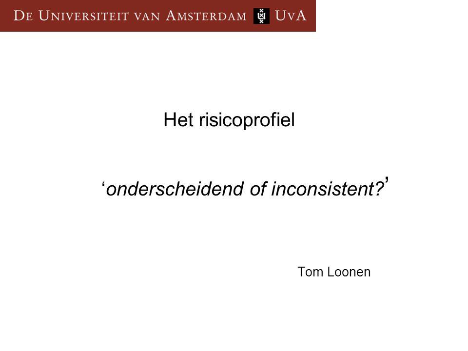 'onderscheidend of inconsistent '
