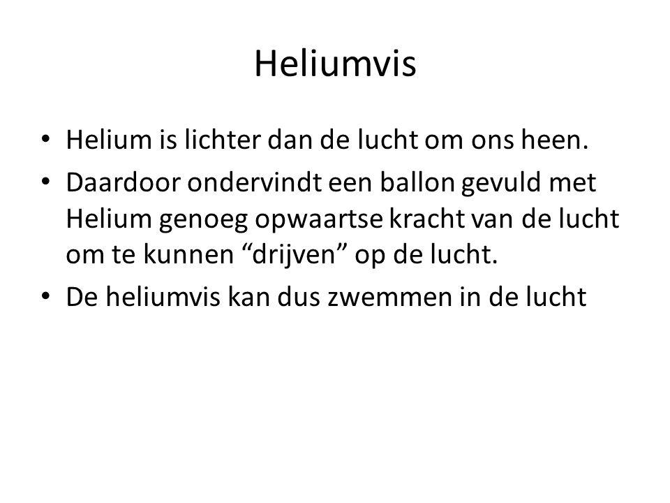 Heliumvis Helium is lichter dan de lucht om ons heen.