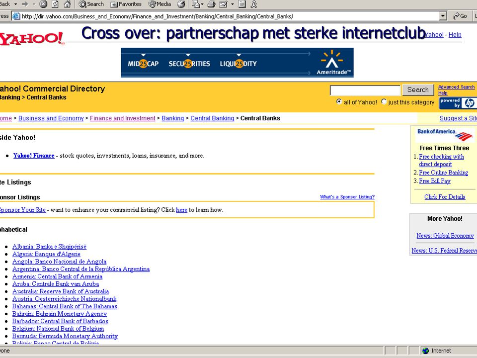 Cross over: partnerschap met sterke internetclub