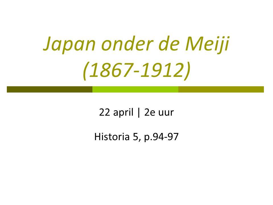 Japan onder de Meiji (1867-1912)