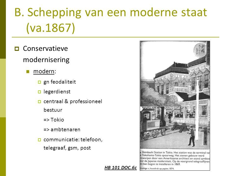 B. Schepping van een moderne staat (va.1867)