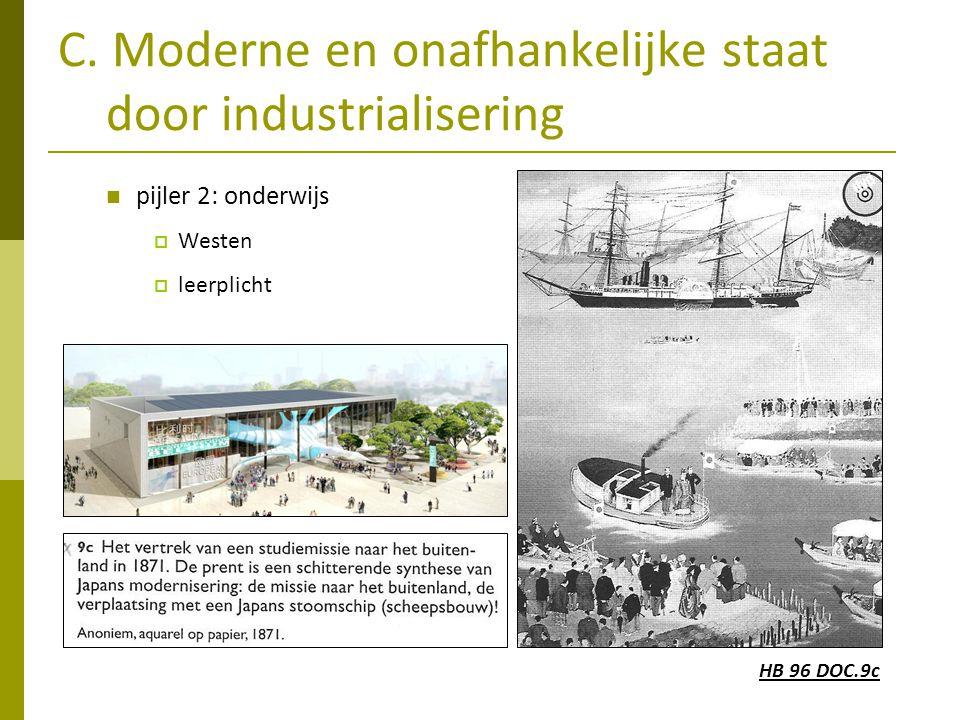 C. Moderne en onafhankelijke staat door industrialisering