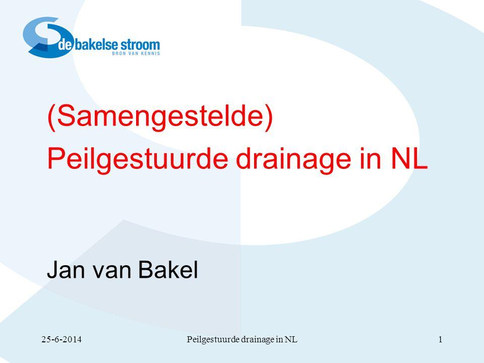 Peilgestuurde drainage in NL
