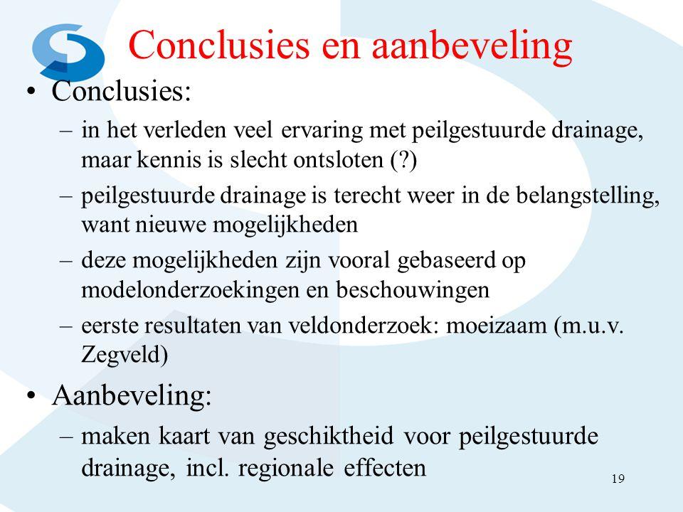Conclusies en aanbeveling
