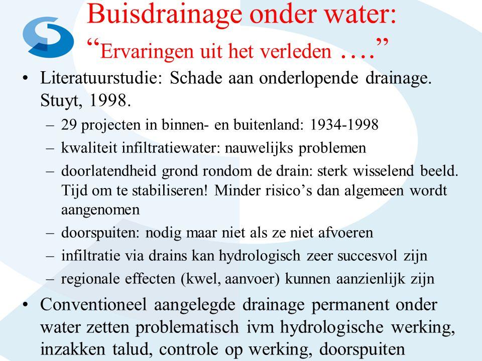 Buisdrainage onder water: Ervaringen uit het verleden ….