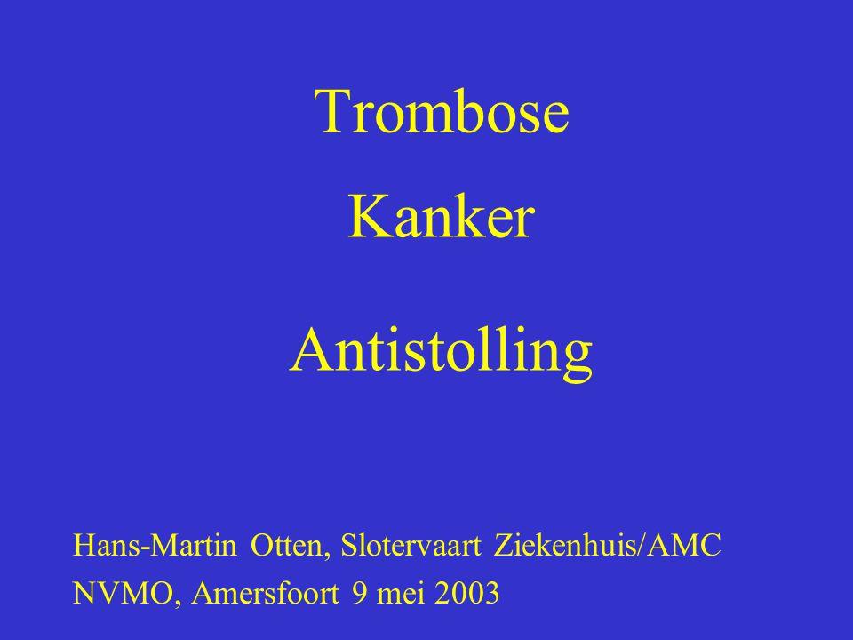 Trombose Kanker Antistolling