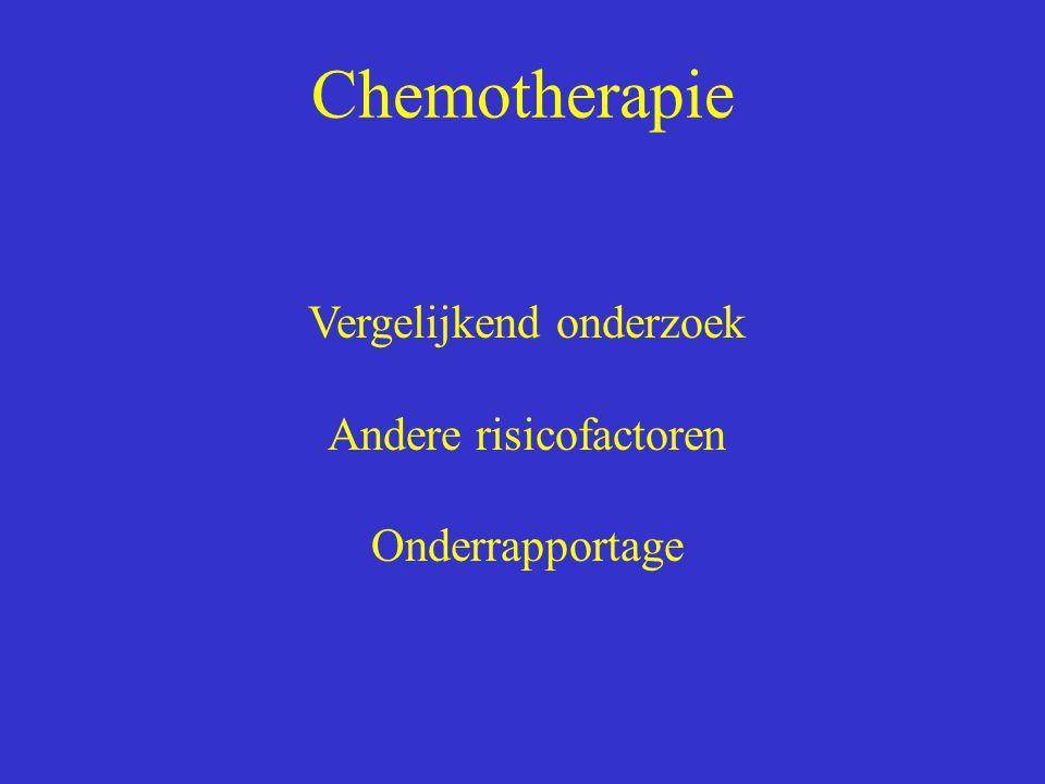 Chemotherapie Vergelijkend onderzoek Andere risicofactoren