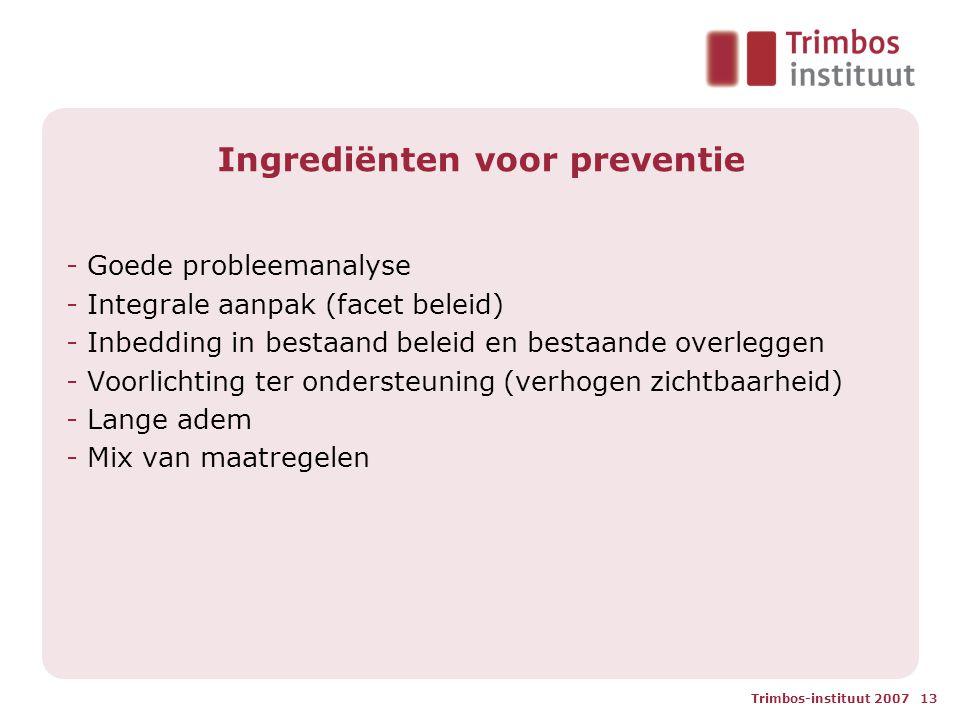 Ingrediënten voor preventie