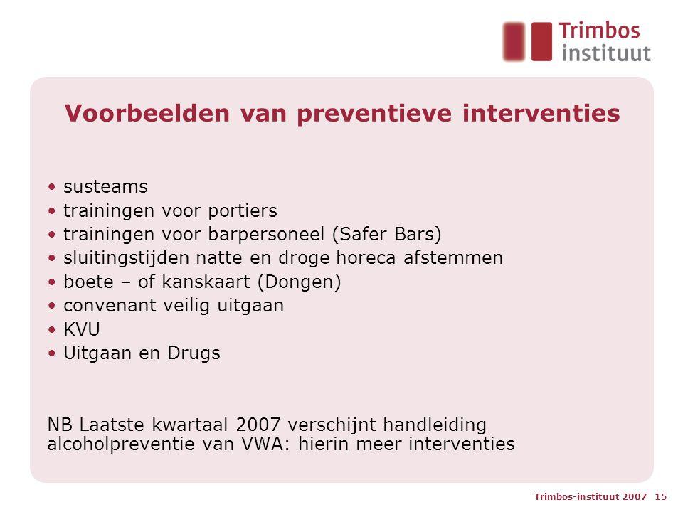 Voorbeelden van preventieve interventies