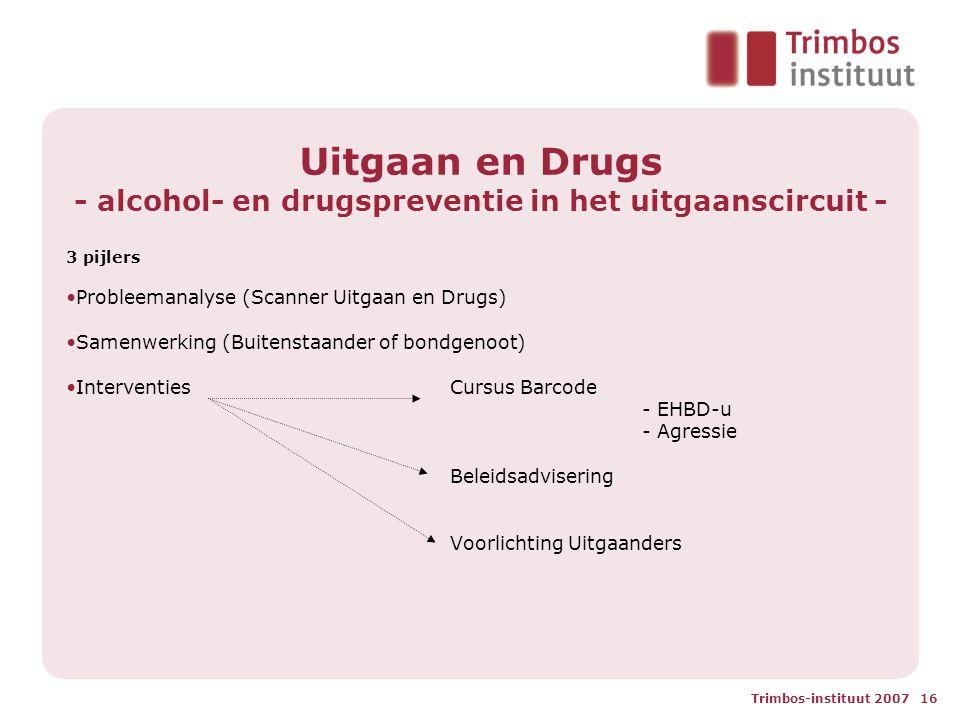 Uitgaan en Drugs - alcohol- en drugspreventie in het uitgaanscircuit -