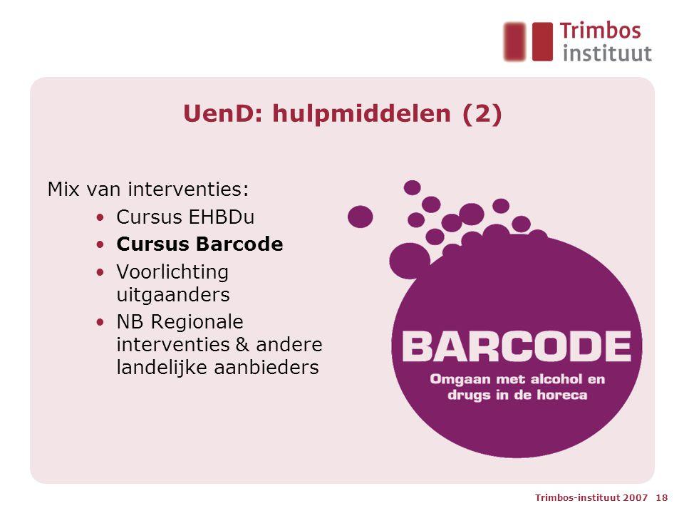 UenD: hulpmiddelen (2) Mix van interventies: Cursus EHBDu