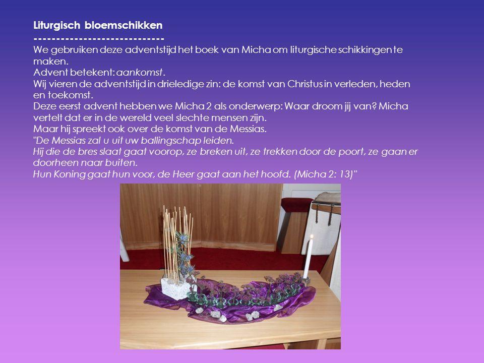 Liturgisch bloemschikken -----------------------------