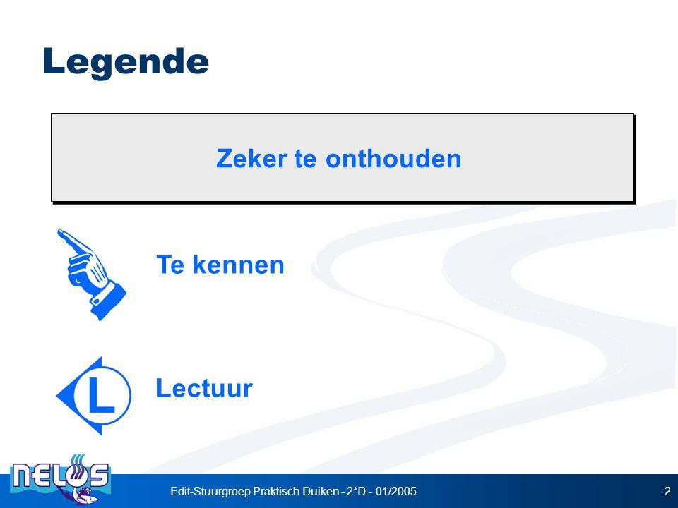 Edit-Stuurgroep Praktisch Duiken - 2*D - 01/2005