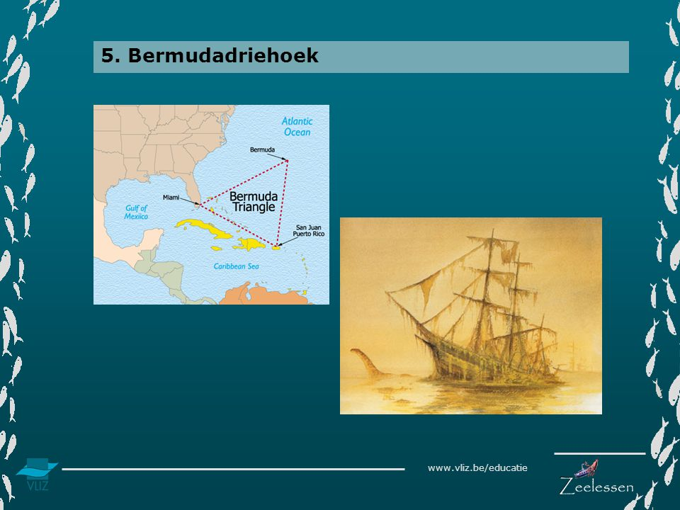 5. Bermudadriehoek Situering van de Bermudadriehoek op kaart.