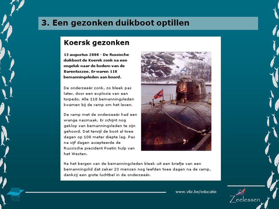 3. Een gezonken duikboot optillen