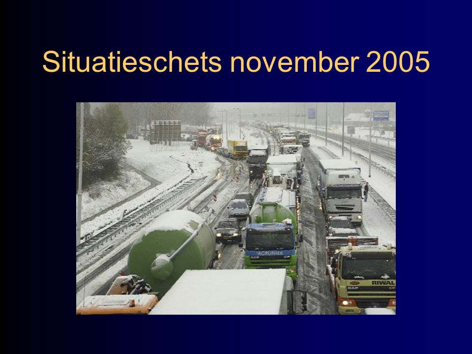 Situatieschets november 2005