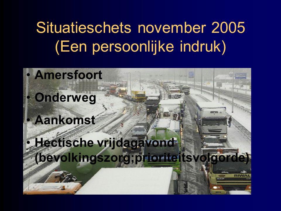 Situatieschets november 2005 (Een persoonlijke indruk)