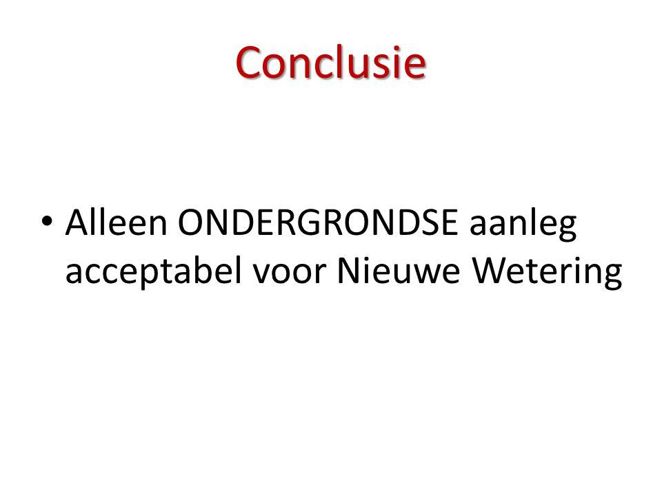Conclusie Alleen ONDERGRONDSE aanleg acceptabel voor Nieuwe Wetering