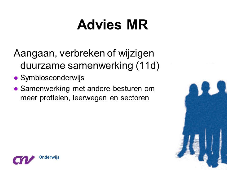Advies MR Aangaan, verbreken of wijzigen duurzame samenwerking (11d)
