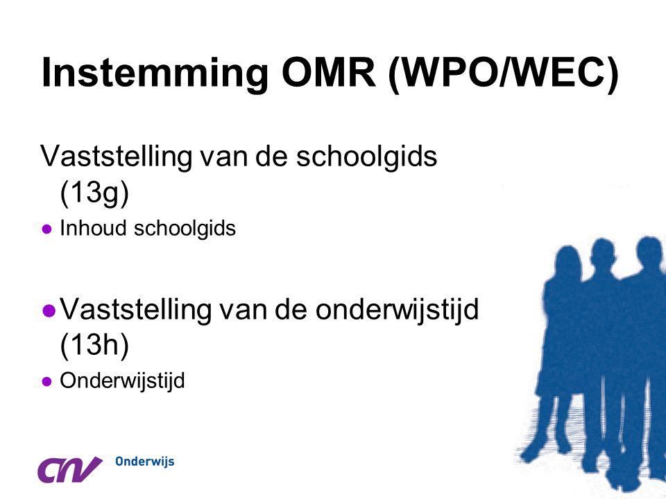 Instemming OMR (WPO/WEC)