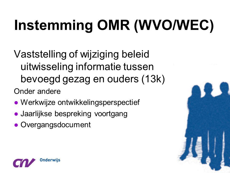 Instemming OMR (WVO/WEC)