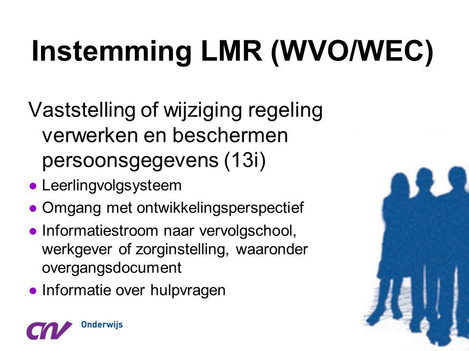 Instemming LMR (WVO/WEC)