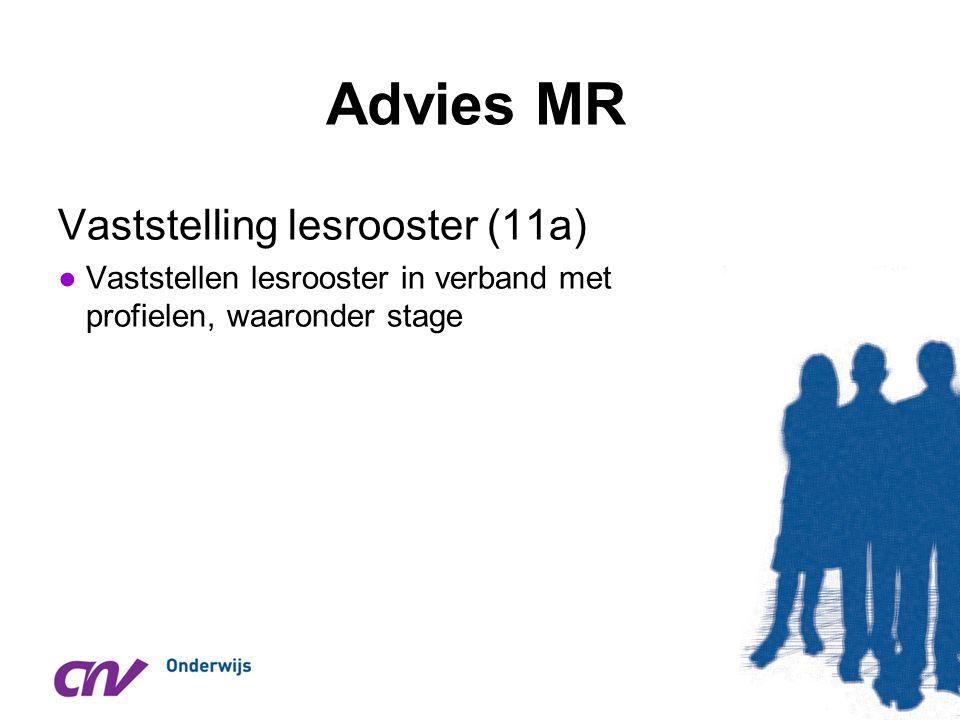 Advies MR Vaststelling lesrooster (11a)