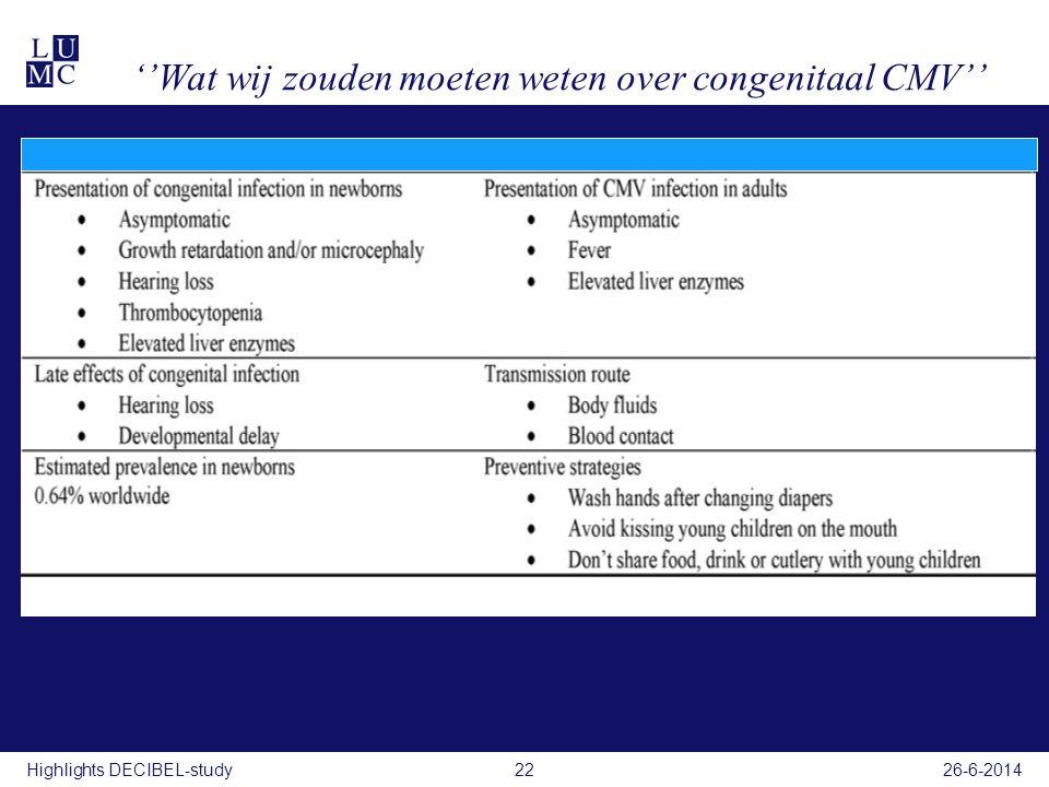 ''Wat wij zouden moeten weten over congenitaal CMV''