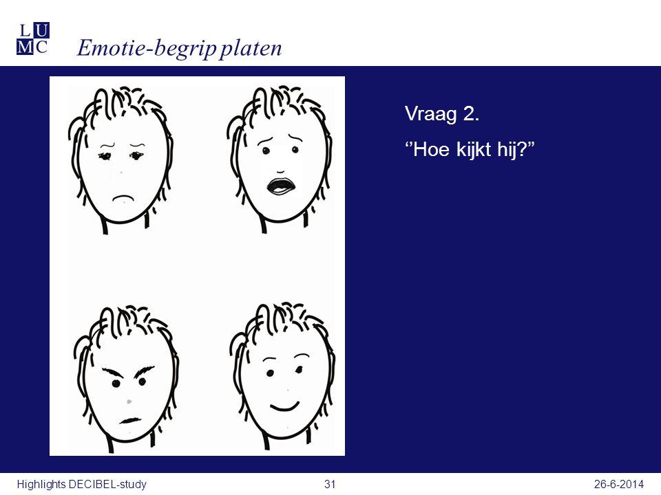 Emotie-begrip platen Filmpje Vraag 2. ''Hoe kijkt hij ''